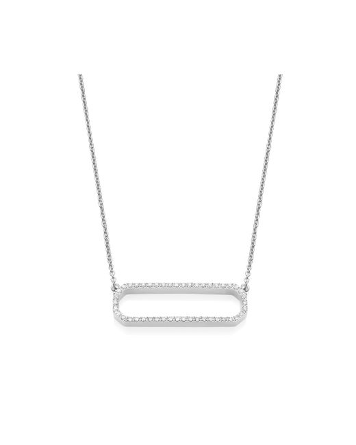 Monica Vinader | Metallic Naida Rectangle Open Necklace | Lyst