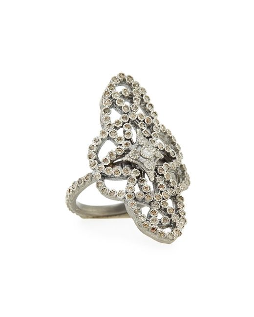 Armenta | Metallic New World Diamond Scrolls Ring | Lyst
