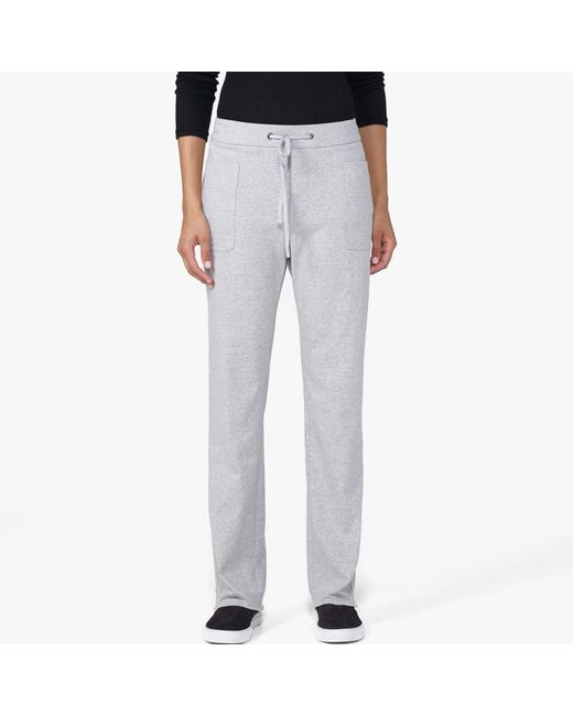 James Perse | Gray Knit Straight Leg Pant | Lyst