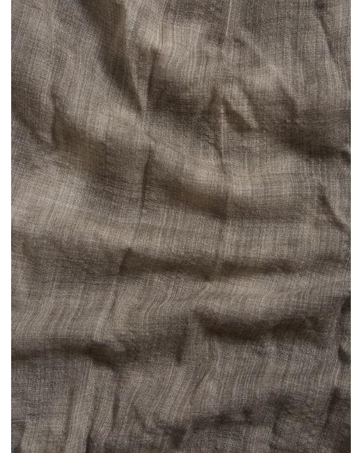 John Varvatos | Green Tie Dye Micro Plaid Scarf for Men | Lyst