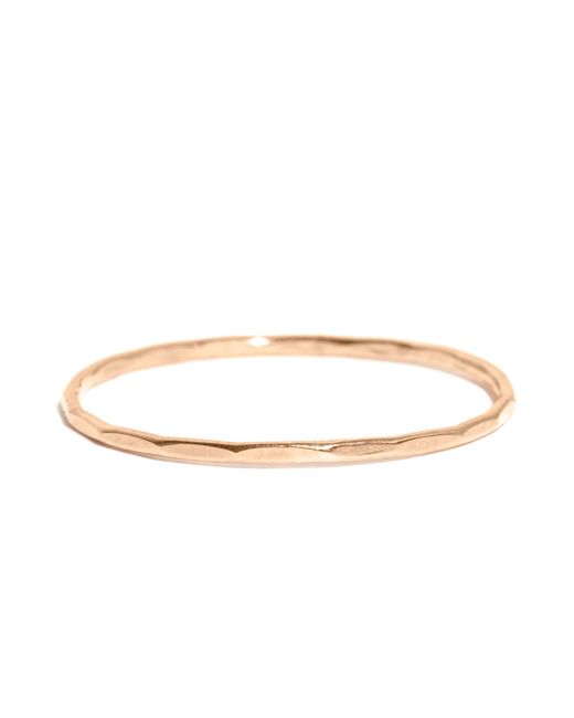 Melissa Joy Manning | Metallic 1mm Hammered Gold Ring | Lyst