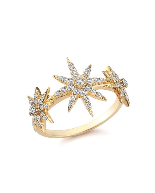 Elizabeth and James | Metallic Compass Rose Ring | Lyst