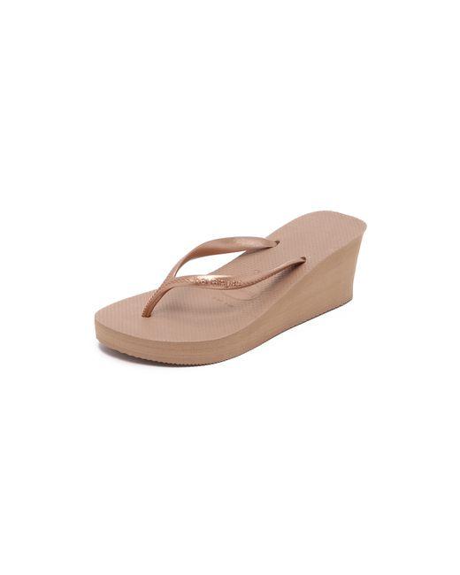 Havaianas | Pink High Fashion Wedge Flip Flops | Lyst