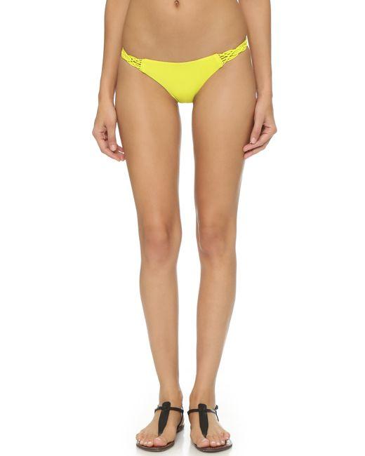 Mikoh Swimwear | Yellow Pali Bikini Bottoms | Lyst