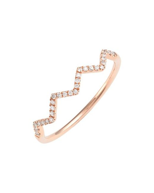 Bony Levy | Pink 'stackable' Zigzag Diamond Ring (nordstrom Exclusive) | Lyst