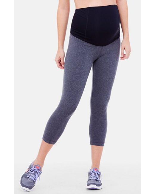 Ingrid & Isabel | Gray Ingrid & Isabel Active Maternity Capri Pants With Crossover Panel | Lyst