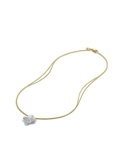 David Yurman | Metallic Quatrefoil Large Pendant Necklace With Diamonds In Gold | Lyst