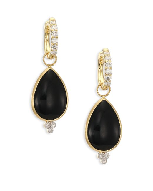 Jude Frances | Metallic Provence Onyx, Diamond & 18k Yellow Gold Large Pear Earring Charms | Lyst