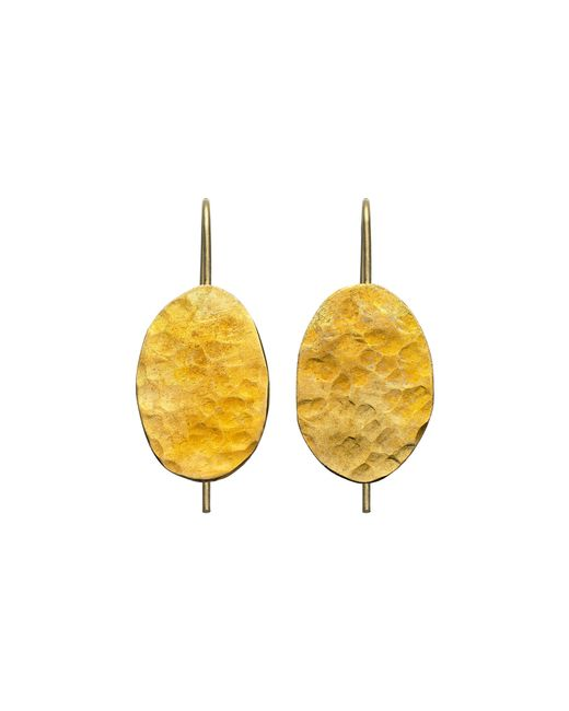 Whistles | Metallic Made Hammered Drop Earrings | Lyst