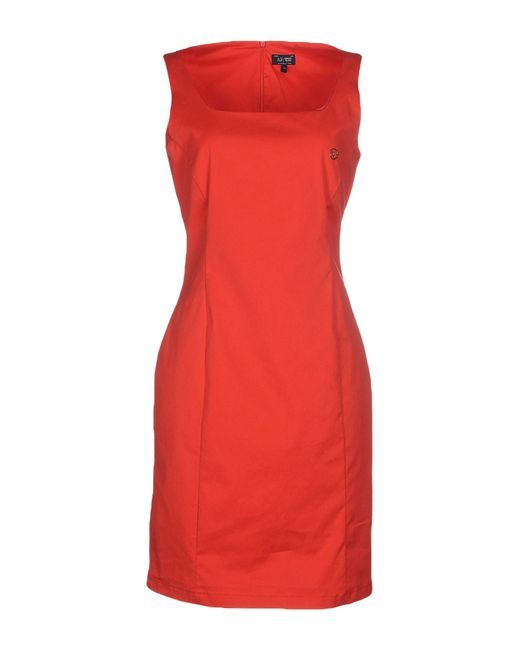 Armani Jeans | Red Short Dress | Lyst