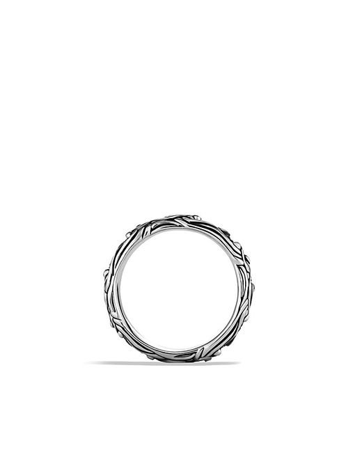 David Yurman Waves Narrow Band Ring With Blue Sapphires In