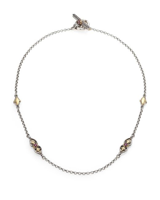 Konstantino | Metallic Artemis Rhodolite, 18k Yellow Gold & Sterling Silver Ornate Necklace | Lyst
