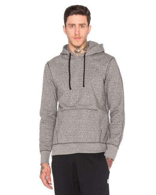Steven alan side zip pullover hoodie in gray for men save 35 lyst