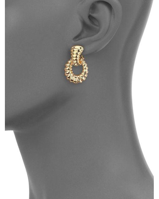 John Hardy | Metallic Bedeg 18k Yellow Gold Doorknocker Earrings | Lyst