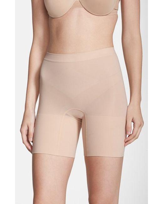 Spanx | Natural Spanx 'power - Short' Mid Thigh Shaper | Lyst