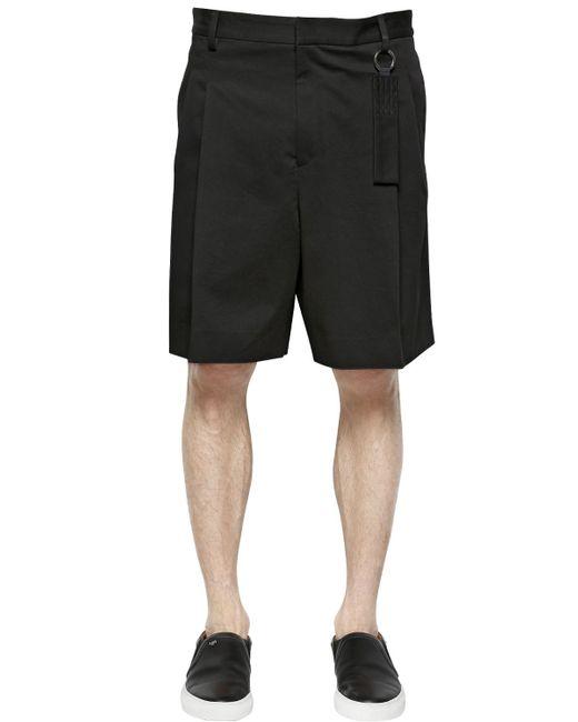 Givenchy | Black Cotton Canvas Bermuda Shorts for Men | Lyst