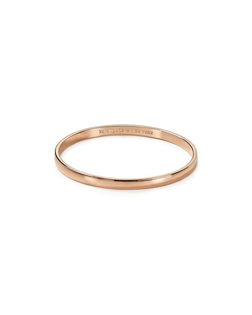 Kate Spade | Pink Stop And Smell The Roses Idiom Bangle | Lyst