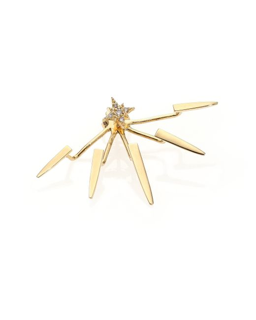 Jacquie Aiche | Metallic 14k Yellow Gold Ice Pick Single Ear Jacket | Lyst