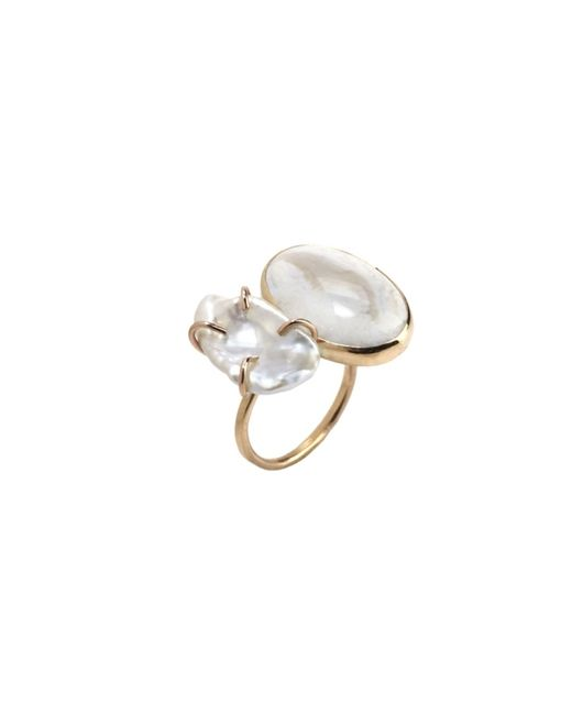 Melissa Joy Manning | White Gold, Pearl And Opal Open Ring | Lyst