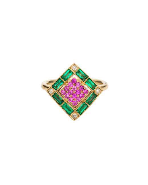 Sabine G | Green Harlequin Pink Sapphire Ring | Lyst