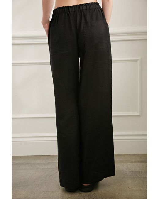 Forever 21 | Black Wide-leg Linen Pants | Lyst