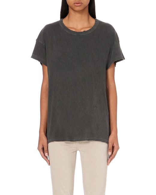 The Great   Black The Palm Cotton-jersey T-shirt   Lyst