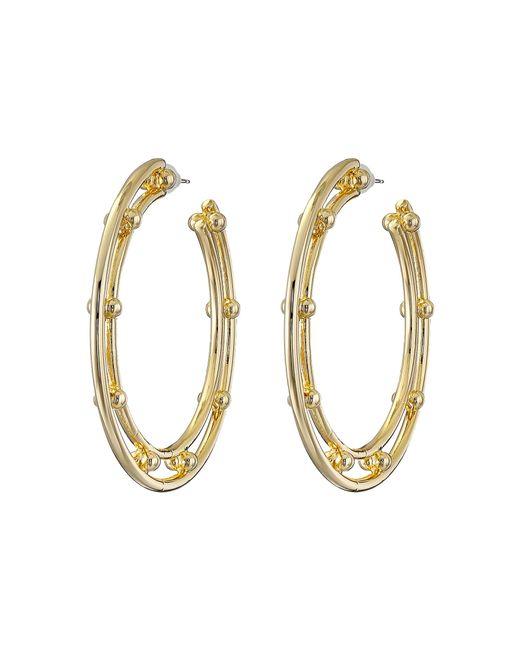 DANNIJO | Metallic Illeana Hoop Earrings | Lyst