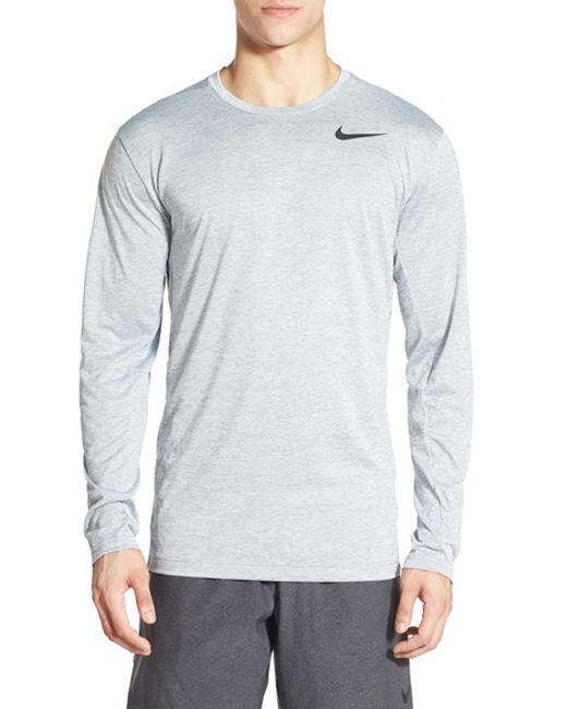 Nike Long Sleeve Dri Fit Training T Shirt In Black For Men