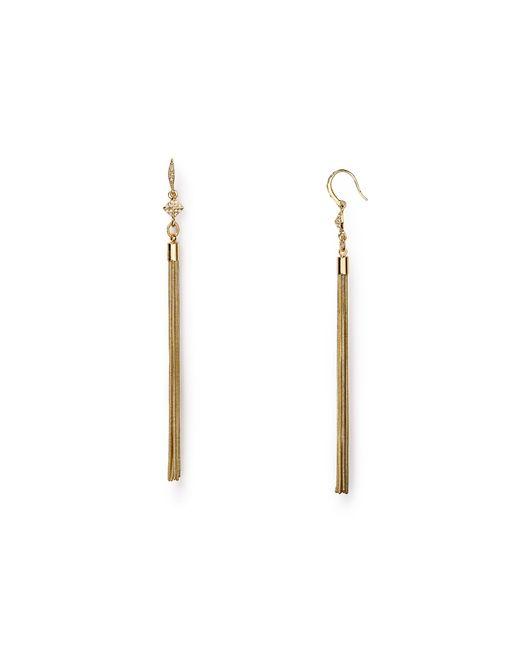 ABS By Allen Schwartz | Metallic Tassel Earrings | Lyst
