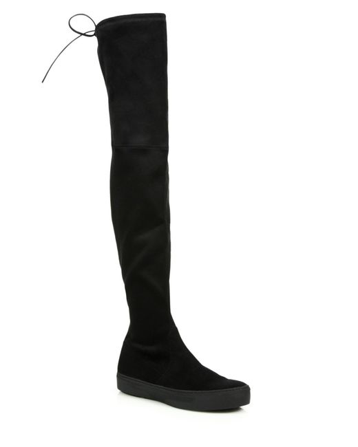 Stuart Weitzman | Black Playtime Ultrastretch Over-the-knee Boots | Lyst