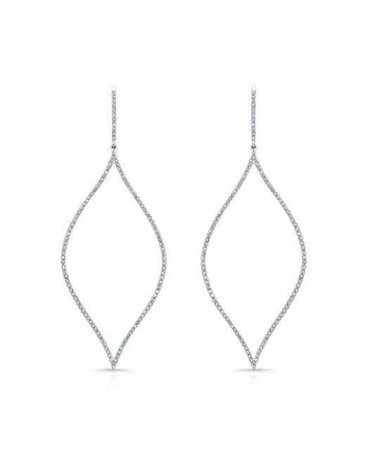 Anne Sisteron - Metallic 14kt White Gold Diamond Open Marquis Diamond Earrings - Lyst
