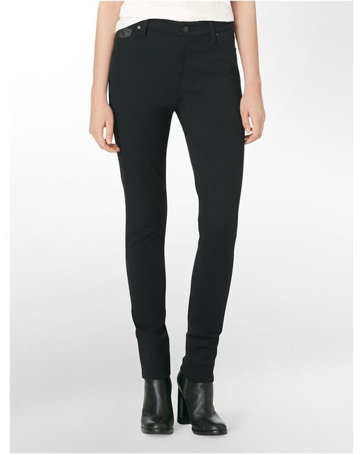 Calvin Klein | Black Jeans 5-pocket Ponte Leggings | Lyst