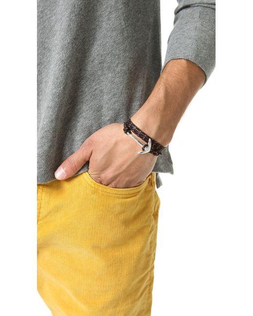Miansai | Metallic Anchor Rope Wrap Bracelet for Men | Lyst
