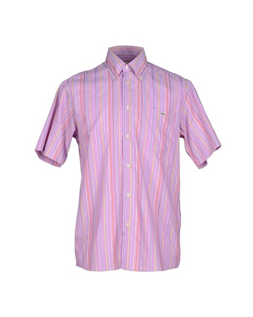 Lacoste Shirt in Pink for Men | Lyst