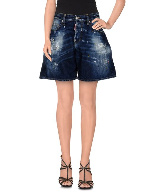 DSquared²   Blue Denim Shorts   Lyst