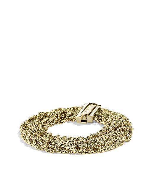 David Yurman   Metallic Box Chain Multi-row Bracelet In 18k Gold   Lyst