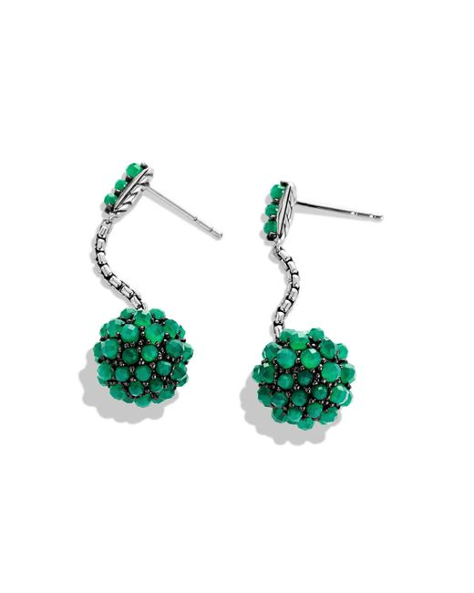 David Yurman | Osetra Short Drop Earrings With Green Onyx | Lyst
