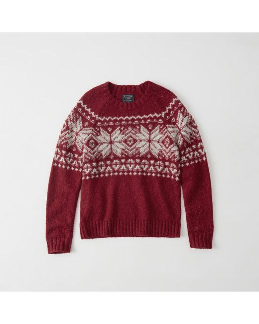Abercrombie & fitch Fair Isle Crew Sweater Exchange Color / Size ...