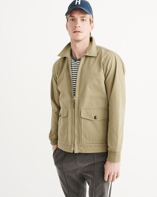 Abercrombie & Fitch Harrington Jacket In Natural For Men