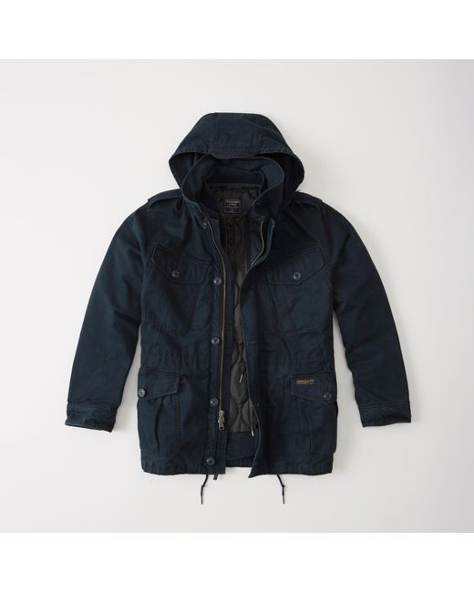 Abercrombie Amp Fitch Military Field Jacket In Blue For Men