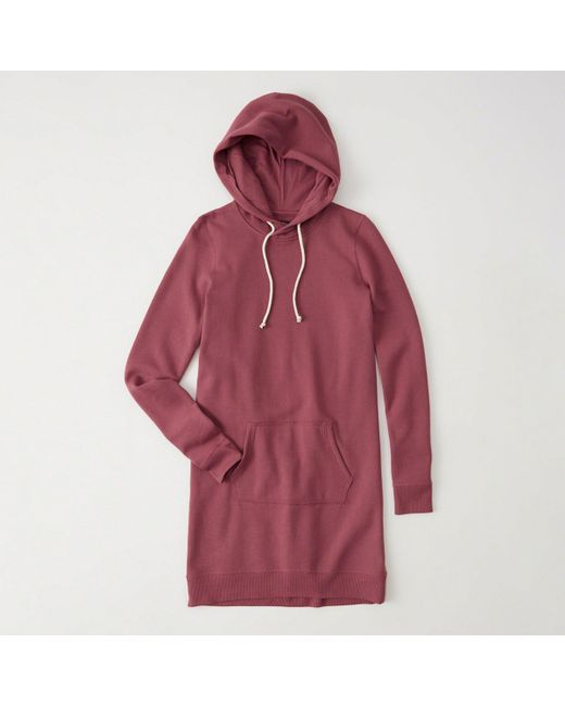 Abercrombie & Fitch - Red Hoodie Dress - Lyst