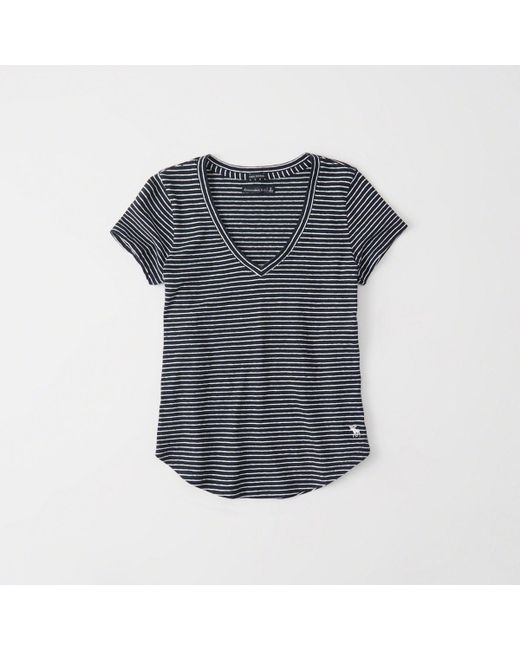 Abercrombie & Fitch - Blue Icon V-neck Tee - Lyst