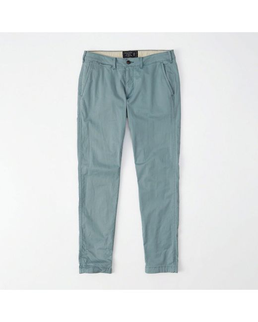 Abercrombie & Fitch - Blue Super Skinny Chino Pants for Men - Lyst