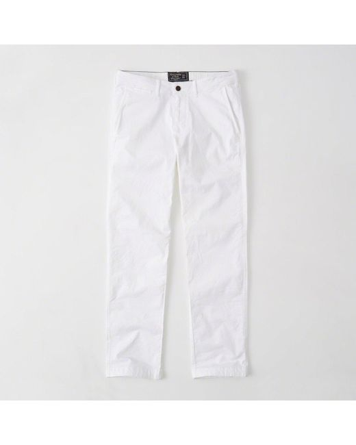 Abercrombie & Fitch | White Straight Chino Pants | Lyst