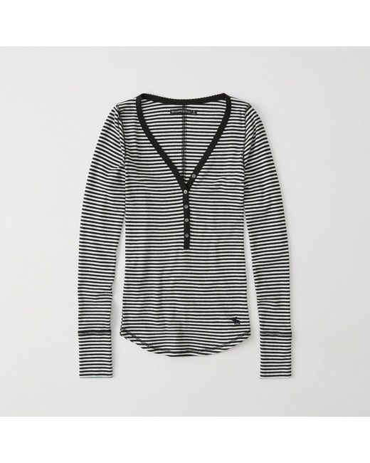 Abercrombie & Fitch - Multicolor Icon Ribbed Henley - Lyst