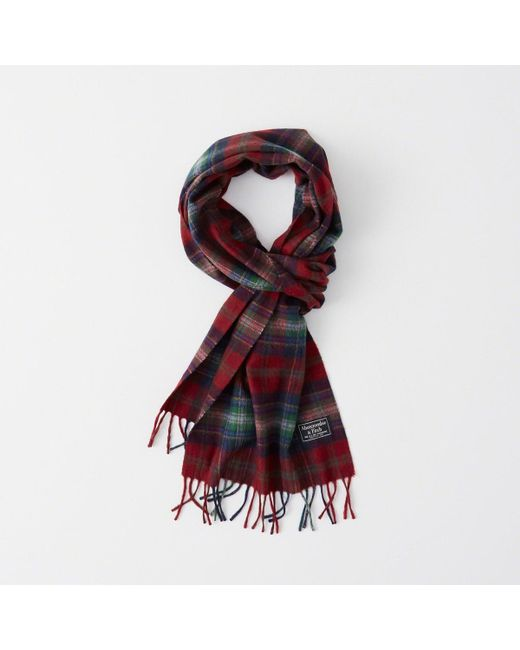 Abercrombie & Fitch - Red Woven Scarf for Men - Lyst