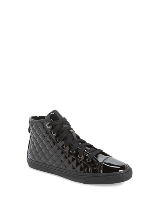 Geox | Black 'new Club' High Top Sneaker | Lyst