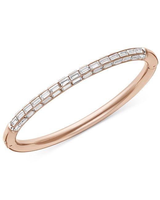 Swarovski   Pink Rose Gold-tone Crystal Bangle Bracelet   Lyst