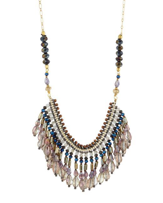 Nakamol | Multicolor Beaded Crystal Fringe Bib Necklace | Lyst
