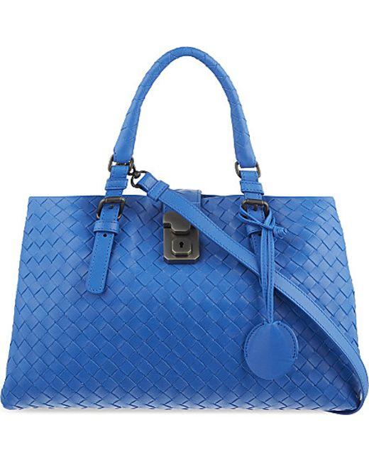 Bottega Veneta   Blue Roma Intrecciato Leather Cross-body Bag   Lyst